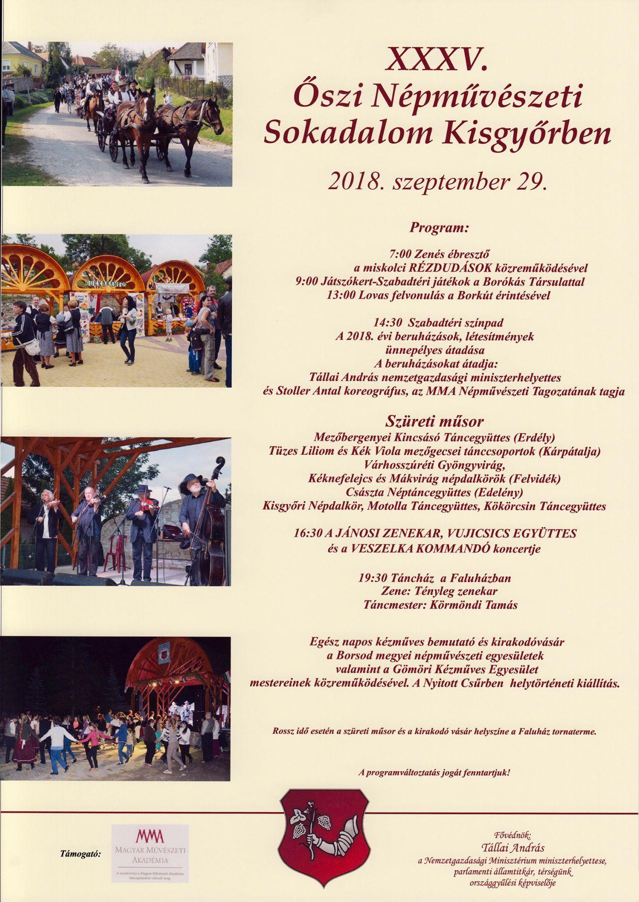 cf4ce040713f Szüreti nap, egész napos kézműves bemutató és kirakodóvásár, táncház,  művészeti programok!